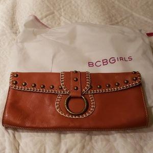 BCBGirls Brown Faux Leather Clutch
